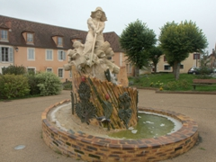 Town square; Coulanges-sur-Yonne