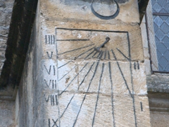Sundial at the Church of Saint-Potentien, Châtel-Censoir
