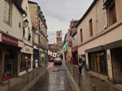 The city of Clamecy after a heavy rainstorm
