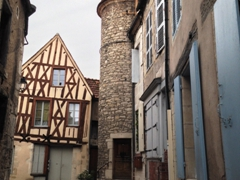 Clamecy is full of half timbered houses!