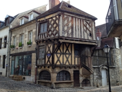 Clamecy's most famous half timbered house