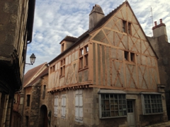 We loved exploring the medieval city of Clamecy and seeing half timbered houses everywhere