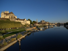 Early morning canal view of Auxerre