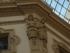Interior detail of Galleria Vittorio Emanuele II