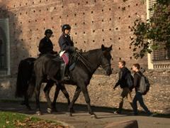 Mounted police; Sforza Castle