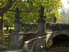 Pedestrian footbridge in Sempione Park
