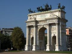 Arco della Pace, a triumphal arch near Sempione Park