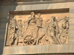 Detail on Milan's Arch of Peace