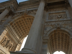 Amazing detail on Milan's Arch of Peace