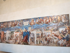 Mural on display at the Church of Holy Mary of Grace (Chiesa di Santa Maria delle Grazie)
