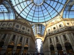 Domed glass ceiling of Galleria Vittorio Emanuele II