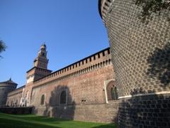 Exterior walls of Castello Sforzesco