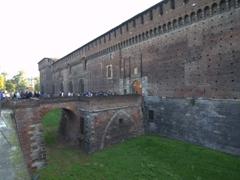 One of the 4 castle entrances; Sforza Castle