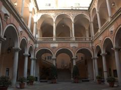 Courtyard of Palazzo Doria Tursi; Via Garibaldi