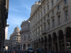 Genoa Stock Exchange (built in 1912 with a curved facade)