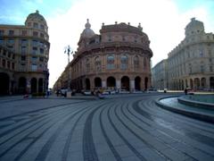 Piazza De Ferrari (the main square of Genoa)