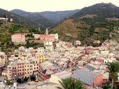 Panoramic view from Doria Castle; Vernazza