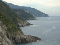The rugged coastline of Cinque Terre