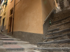 All stairs lead up; Vernazza