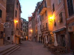 Early morning view of Vernazza and not a creature was stirring