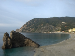 The famous rock of Monterosso