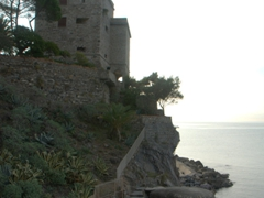 16th century lookout tower (built after a devastating pirate raid in 1545) and Nazi 'pillbox' bunker; Monterosso