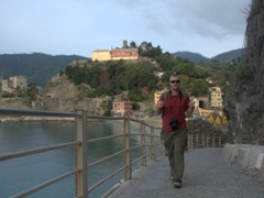 Thumbs up from Robby as we start our hike from Monterosso to Vernazza
