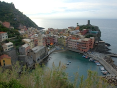 Our first glimpse of Vernazza as we descended into town...truly lovely!