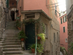 More staircases tucked away in Vernazza, with all stairs leading up!