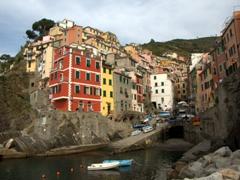 Riomaggiore's pretty harbor