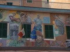 Murals of the painter Silvio Benedetto; Riomaggiore