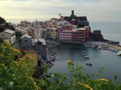 Another vantage point overlooking Vernazza's picturesque harbor