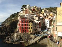 Beautiful panorama of Riomaggiore