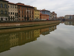 View of Pisa's Arno River from Ponte della Fortezza (Fortress Bridge)