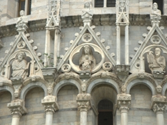 Carved detail on Pisa's Baptistry
