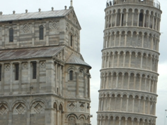 The iconic image of the Leaning Tower of Pisa