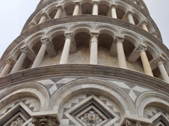 Staring up at the Leaning Tower