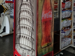 Leaning Tower Coke advertisement; Pisa
