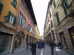 Via del Corso pedestrian street; Pisa