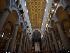 Interior view of Pisa's Duomo