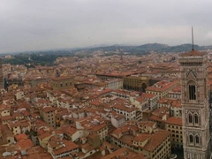 Panoramic view of Florence from Brunelleschi's Dome