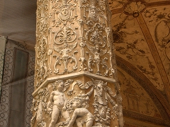 A column in the courtyard of Palazzo Vecchio