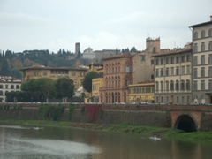 Arno River waterfront view