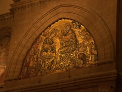 Jesus Christ and coronation of holy Mary, an interior mosaic from Cathedral of Santa Maria del Fiore
