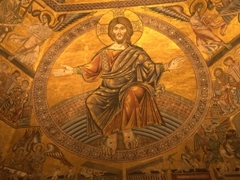 Gigantic figure of Christ the Judge overlooking the entire dome; Baptistry of San Giovanni