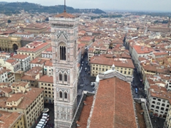 View of Giotto's bell tower (as seen from the top of Brunelleschi's Dome)