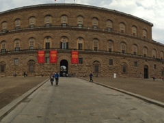 Panoramic view of the Palazzo Pitti