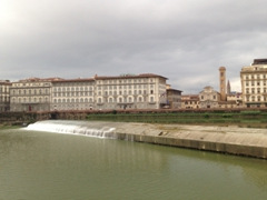 Pescaia di Santa Rosa, a spillway designed to tame the Arno river