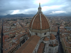 Magnificent vista overlooking the Cathedral of Santa Maria del Fiore (as seen from Giotto's Bell Tower)