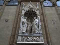 Wander the streets of Florence and it won't take you long to stumble upon amazing carvings such as this one